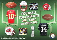 Schwartz Sports Football TOUCHDOWN Mystery Box - Series 4 (Limited to 75) (6+ Autograph Items per Box) at PristineAuction.com