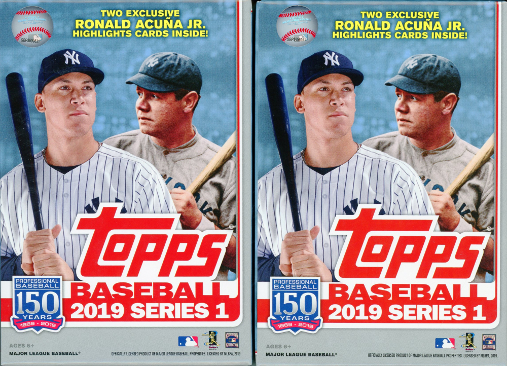 Lot of (2) 2019 Topps Series 1 Baseball Hanger Boxes at PristineAuction.com