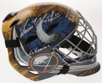 "Dominik Hasek Signed Sabres Full-Size Goalie Mask Inscribed ""6x Vezina"" (Schwartz COA) at PristineAuction.com"