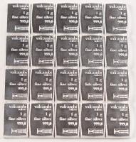 Lot of (20) 1 Gram Silver Valcambi Mint Bullion Bars (Uncut) at PristineAuction.com