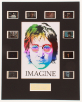 "John Lennon ""Imagine"" LE 8x10 Custom Matted Original Film / Movie Cell Display at PristineAuction.com"