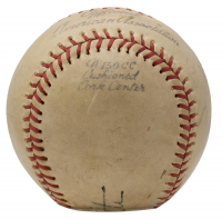 Babe Ruth Signed 1940s Official American Association Baseball with High-Quality Display Case (PSA LOA) at PristineAuction.com