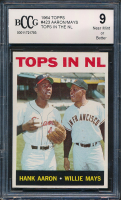 1964 Topps #423 Tops in NL Hank Aaron / Willie Mays (BCCG 9) at PristineAuction.com