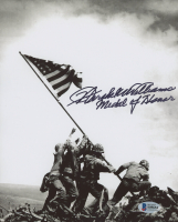 "Hershel Williams Signed ""Flag Raising at Iwo Jima"" 8x10 Photo Inscribed ""Medal of Honor"" (Beckett COA) at PristineAuction.com"