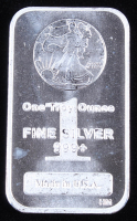 1 Troy Ounce .999 Fine Silver Walking Liberty Commemorative Bullion Bar at PristineAuction.com