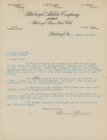 Barney Dreyfuss Signed 1921 Pittsburgh Atheletic Company Letter (JSA LOA) at PristineAuction.com