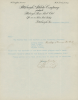 Barney Dreyfuss Signed 1910 Pittsburgh Atheletic Company Letter (JSA LOA) at PristineAuction.com