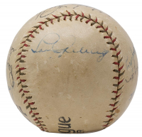 1934 Yankees Baseball Team-Signed by (12) with Babe Ruth, Lou Gehrig, Bill Dickey, Frank Crosetti, Johnny Allen with Display Case (PSA LOA) at PristineAuction.com