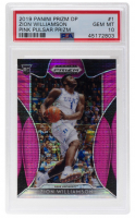 Zion Williamson 2019-20 Panini Prizm Draft Picks Prizms Pink Pulsar #1 (PSA 10) at PristineAuction.com
