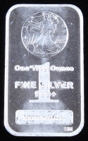 """1 Troy Ounce .999 Fine Silver """"Walking Liberty"""" Commemorative Bullion Bar at PristineAuction.com"""