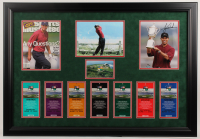 "Tiger Woods Signed LE 2002 U.S. Open Championship ""Major Moments"" 28x39 Custom Framed Photo Display (UDA COA) at PristineAuction.com"
