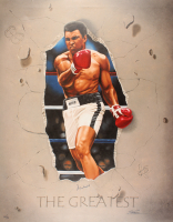 "Muhammad Ali Signed LE ""The Greatest"" 30x38 Giclee On Canvas and Wood (JSA ALOA) at PristineAuction.com"