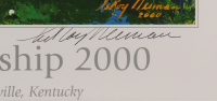 Leroy Neiman Signed 2000 PGA Championship 27x34 Custom Framed Lithograph Display (JSA COA) at PristineAuction.com