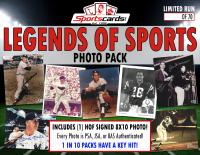 Legends of Sports Photo Pack - Signed 8x10 All Hall of Fame Edition Mystery Box at PristineAuction.com