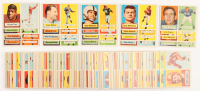 1957 Topps Complete Set of (154) Football Cards with #119 Brett Starr RC, #138 Johnny Unitas RC, #94 Raymond Berry RC, #85 Dick Lane RC, #124 Tom McDonald RC at PristineAuction.com