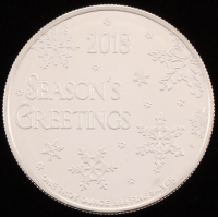 """2018 1 Troy Ounce .999 Fine Silver """"Season's Greeting"""" Bullion Round at PristineAuction.com"""