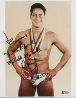 Greg Louganis Signed 8x10 Photo with Multiple Inscriptions (PSA COA) at PristineAuction.com