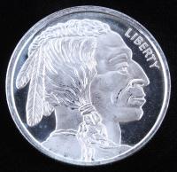 "1 Troy Ounce .999 Fine Silver ""Buffalo Nickel"" Commemorative Bullion Round at PristineAuction.com"