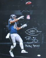 "Trey Burton Signed Eagles 16x20 Photo Inscribed ""Philly Special"" With Hand-Drawn Play (JSA COA) at PristineAuction.com"