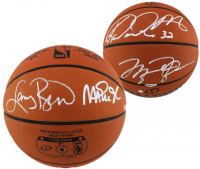 NBA Legends Spalding NBA Game Ball Series LE Basketball Signed by (4) with Michael Jordan, Larry Bird, Magic Johnson & Karl Malone (Steiner COA) at PristineAuction.com