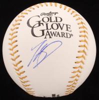 Mookie Betts Signed Gold Glove Award Baseball (JSA COA) at PristineAuction.com