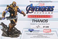 """Marvel Milestones 16"""" Tall """"Avengers: Endgame"""" Armored Thanos Limited Edition Resin Statue at PristineAuction.com"""