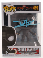 "Tom Holland Signed ""Spider-Man: Far From Home"" #469 Spider-Man (Stealth Suit) Funko Pop! Vinyl Figure (PSA COA) at PristineAuction.com"