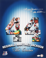 "Reggie Jackson Signed 16x20 Print Inscribed ""Mr. October"" (JSA COA) at PristineAuction.com"