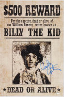 "Emilio Estevez Signed ""Billy The Kid"" 12x18 Wanted Poster (Schwartz COA) at PristineAuction.com"