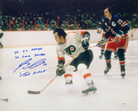 """Reggie Leach Signed Flyers 16x20 Photo Inscribed """"75 SC Champs"""", """"76 Conn Smythe"""" & """"The Rifle"""" (JSA COA) at PristineAuction.com"""