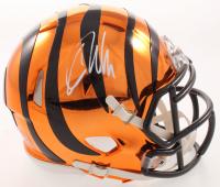 Carson Palmer Signed Bengals Chrome Speed Mini Helmet (JSA COA) at PristineAuction.com
