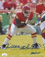 "Will Shields Signed Chiefs 8x10 Photo Inscribed ""HOF 15"" (JSA COA) at PristineAuction.com"