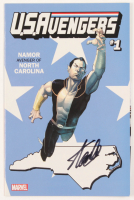 "Stan Lee Signed 2017 ""U.S.Avengers"" Issue #1 Namor North Carolina State Variant Marvel Comic Book (JSA COA) at PristineAuction.com"