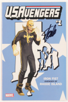 "Stan Lee Signed 2017 ""U.S.Avengers"" Issue #1 Iron Fist Rhode Island State Variant Marvel Comic Book (JSA COA) at PristineAuction.com"