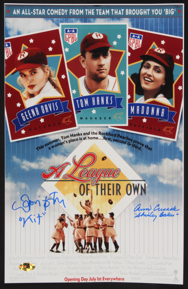 "Lori Petty & Ann Cusack Signed ""A League of Their Own"" 11x17 Photo Inscribed ""Kit"" & ""Shirley Baker"" (MAB Hologram) at PristineAuction.com"