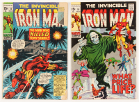 "Lot of (2) 1969 ""The Invincible Iron-Man"" Marvel Comic Books with #19 & #23 at PristineAuction.com"