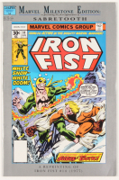 """Stan Lee Signed 1992 """"Marvel Milestone Edition: Iront Fist"""" Reprint Issue #14 Marvel Comic Book (JSA COA) at PristineAuction.com"""