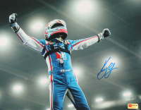 Kyle Larson Signed 2020 Chili Bowl 11x14 Photo (PA COA) (Imperfect) at PristineAuction.com