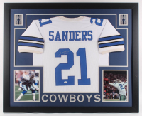 Deion Sanders Signed 35x43 Custom Framed Jersey (JSA Hologram) at PristineAuction.com