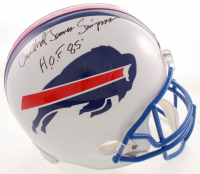 "O.J. Simpson Signed Bills Full-Size Throwback Helmet with Full Name ""Orenthal James Simpson"" Inscribed ""H.O.F 85'"" (JSA COA) at PristineAuction.com"