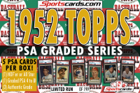 SportsCards.com 1952 Topps Baseball PSA Graded Series Mystery Box – 5 PSA Cards Per Box! at PristineAuction.com