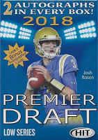 2018 Sage Hit Premier Draft Low Series Football Blaster Box at PristineAuction.com