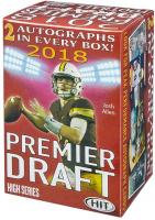 2018 Sage Hit Premier Draft High Series Football Blaster Box with (4) Packs at PristineAuction.com