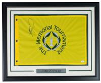Jordan Spieth Signed Memorial Tournament 21x27 Custom Framed Pin Flag Display (JSA COA) at PristineAuction.com