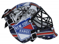 Henrik Lundqvist Signed Rangers Mini Goalie Mask (Fanatics Hologram) at PristineAuction.com