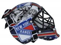 Henrik Lundqvist Signed Rangers Mini Goalie Mask (Fanatics Hologram) at PristineAuction.com