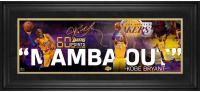"""Kobe Bryant Lakers """"Mamba Out"""" 13x33 Custom Framed Display at PristineAuction.com"""