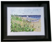 Ocean City, New Jersey 22x27 Custom Framed Art Print Display at PristineAuction.com