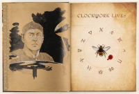"Tom Hodges - ""Clockwork Lives: The Graphic Novel"" Hardcover Book with ORIGINAL Hand-Embellished 'Neil Peart' Remarque (1/1) at PristineAuction.com"