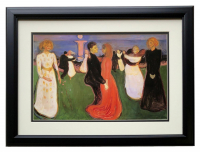"Edvard Munch ""The Dance of Life"" 18x20 Custom Framed Print Display at PristineAuction.com"